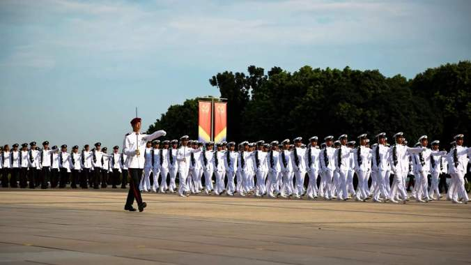 Commissioning Parade, Jan 16